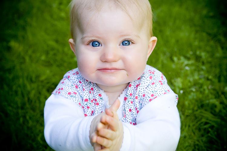 Babyportræt af Emilie