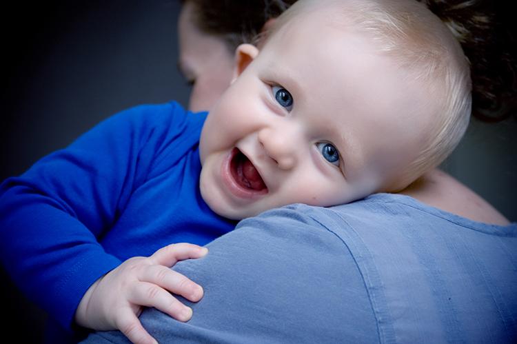 babyportrætter af Buster