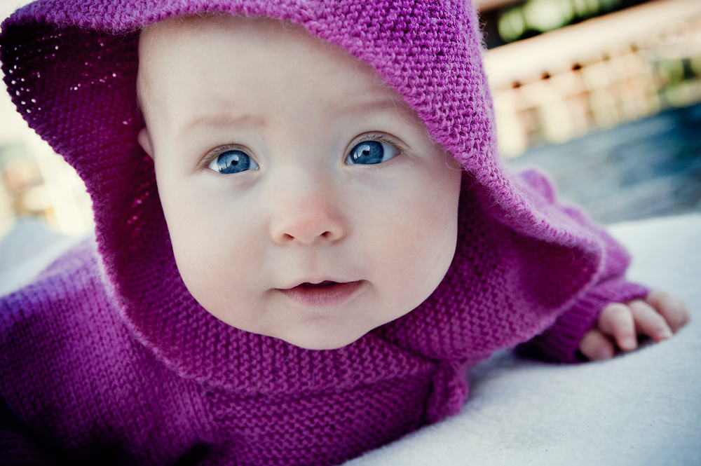 babyfoto på bryggen