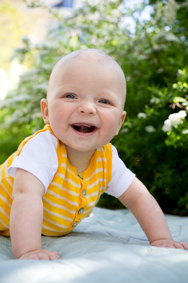 Udendørs babyfotografi